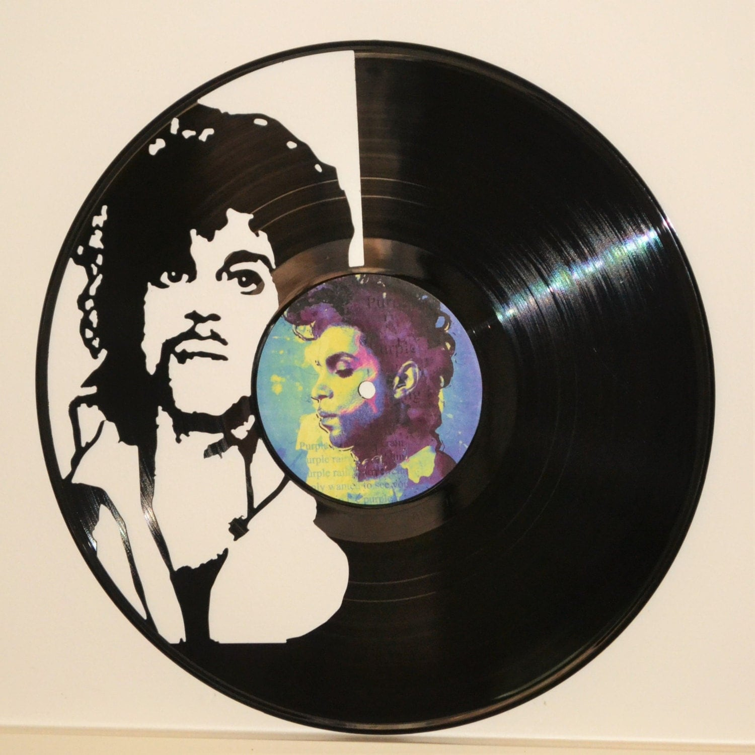 Prince Purple Rain Vinyl Record Wall Art