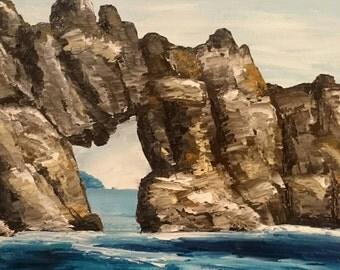 Coastal giclee print Tasmanian seascape oil painting by Mel Andrewartha