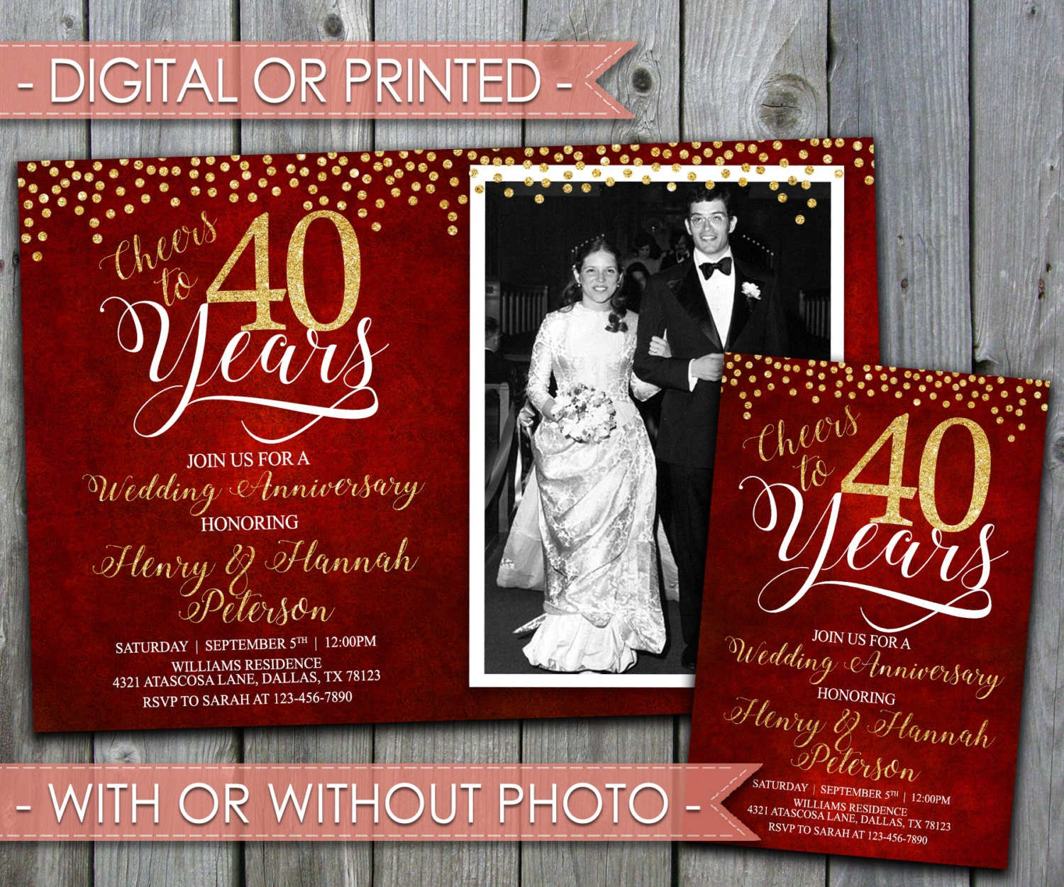 Ideas For 40th Wedding Anniversary Gifts: 40th Wedding Anniversary Invitation Wedding Anniversary