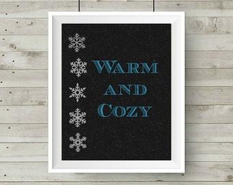 Warm and Cozy 8x10 Printable,
