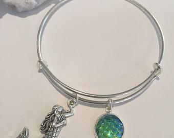 Mermaid Scales Bangle ~Greeny/Aqua