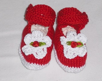 Baby shoes - shoes SL 7 cm - baby shoes - push - handicraft - newborns - wool - first shoes