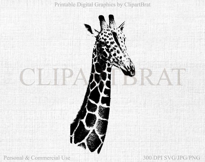 GIRAFFE CLIPART Commercial Use Clipart Giraffe Vector Clipart Digital Stamp Giraffe Fabric Transfer Clipart Vector Graphic Jpg/Png/Svg