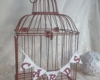 Gift Card Holder, Birdcage Card holder, Bridal Shower card holder, Birdcage Wedding Card Holder.