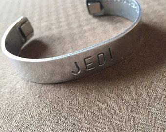 Mantra band made of 14 gauge aluminum may the force be with you!