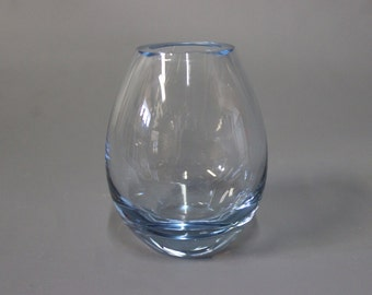 Glass vase in light blue by Holmegaard, 1950s