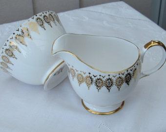 Queen Anne Bone China Cream Jug and Sugar Bowl