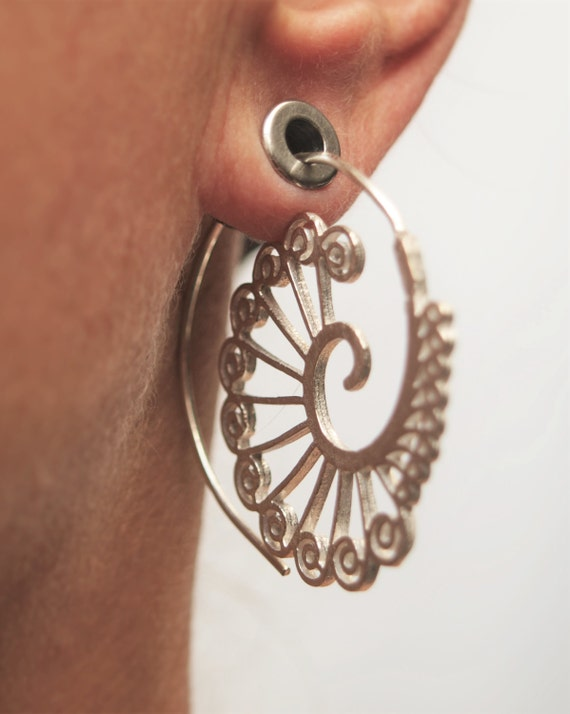 Hanging Spiral Earrings Can Be Worn Also By Rezahdesignstudio