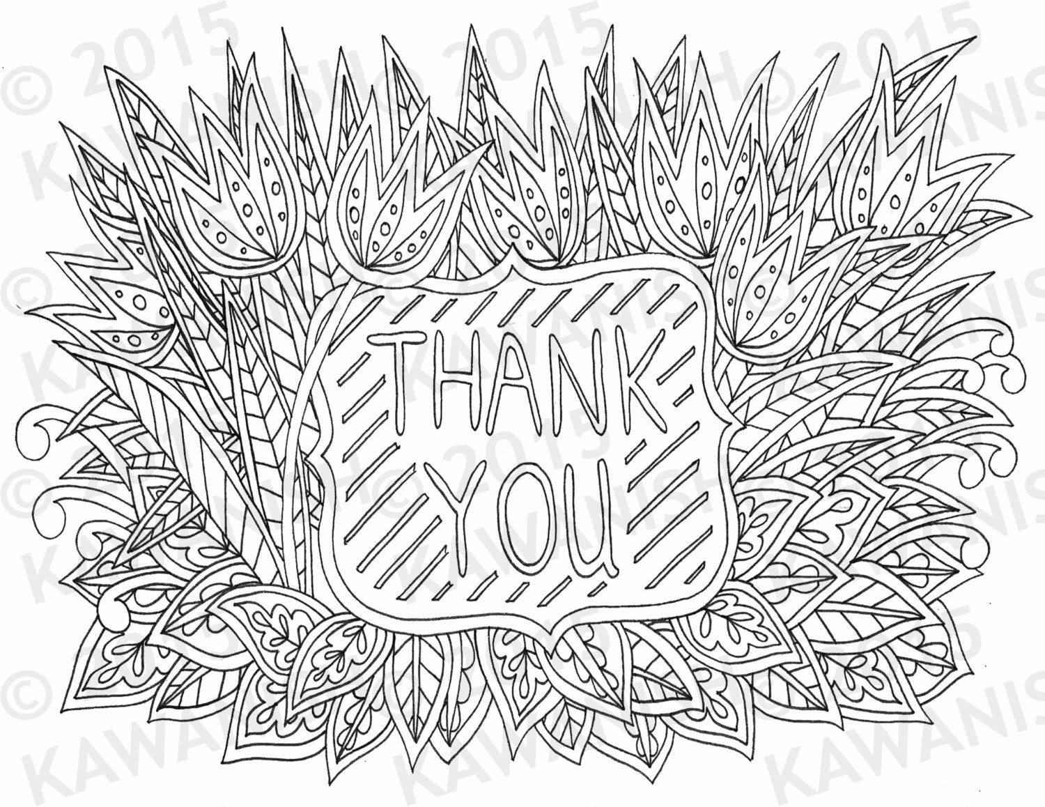 Coloring pages thank you -  Zoom