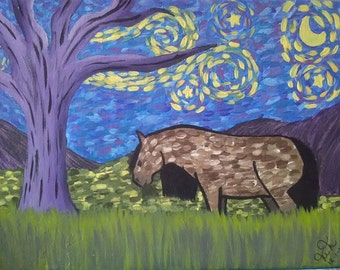 """Painting Inspired by """"Starry Night"""""""