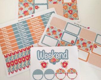 Orange zest planner sticker kitHappy planner or Erin Condren