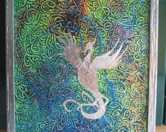 """Painting """"Eternity"""" acrylic on canvas framed"""