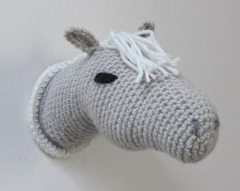 Crochet Trophy Horse Head Wall Mount