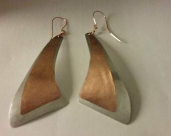 Unique Copper and Aluminum Earrings