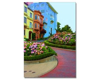 San Francisco art, Up Lombard street