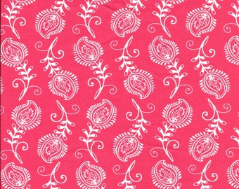 Pink Print Cotton Fabric- 1/2 yard