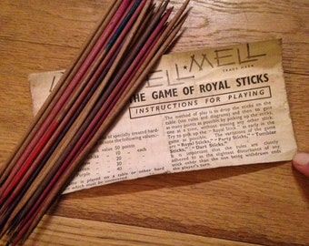 Vintage Pellmell Royal Sticks - Pick Up Sticks Game.