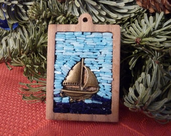PRICE DROP sail and wood