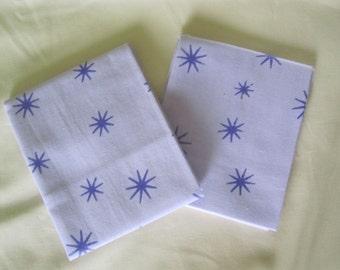 FAT QUATERS lilac with purple stars fabrics 100% cotton