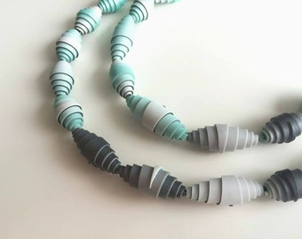 Polymer clay tutorial - Paper-like beads