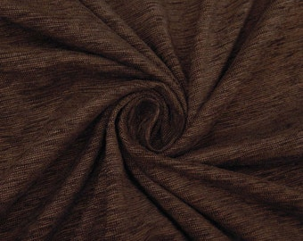 """Decorative Fabric, Sewing Decor, Brown Fabric, Strech Velvet Fabric, 50"""" Inch Wide Fabric By The Yard ZVE120A"""