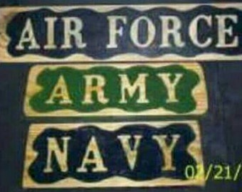 Military Wood Carved Signs   U.S. Army   Veterans   Military Gifts   V.A.