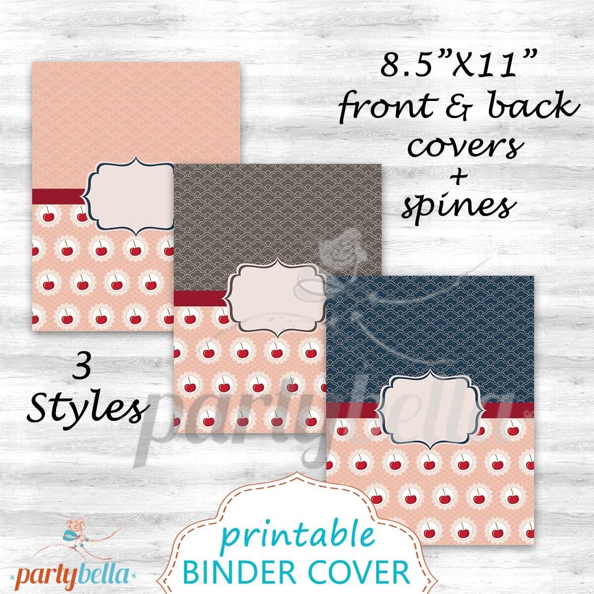 Printable Cherry Binder Cover Set Of 3 8.5x11