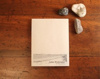 Lake Michigan~beach Note Pad