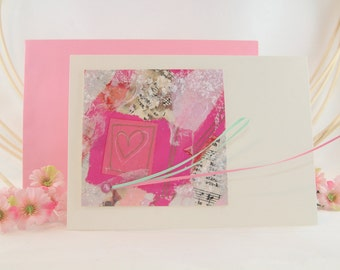 Love card with paper tapes