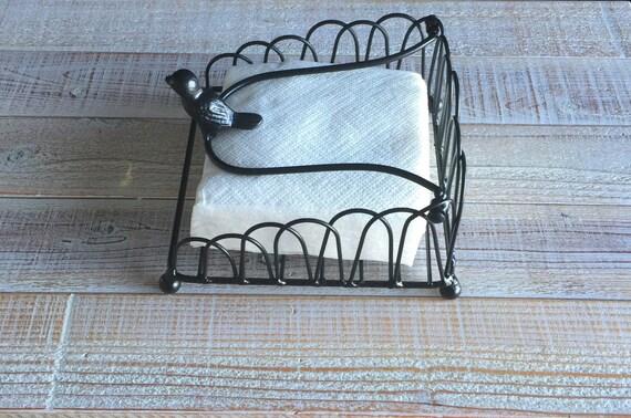 Napkin Holder Bird Bird Decor Kitchen Decor Metal Etsy
