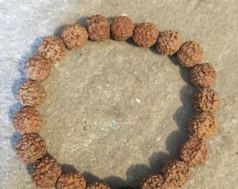 Rudraksha & volcanic lava bracelet