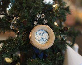 Vintage Chantilly  Lace Ornaments