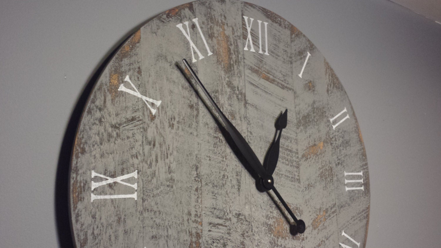 24 Large Rustic Wall Clock Made From Rough Cut By