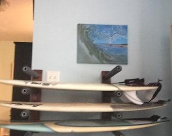 horizontal surfboard rack wall mountable