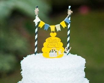 Whats it going to bee Gender Reveal Cake Topper