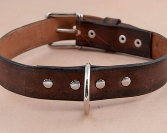 The Distressed leather dog collar