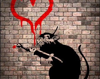 Banksy Canvas Print- 2 sizes to choose from