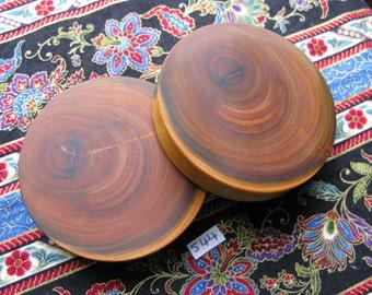 70mm Handmade Wooden Pau Santo 'Brazilian Blackheart' Ear Plugs Pair - Easy Care ( Overall size 71.3mm )