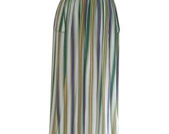 1950's Vintage Striped Skirt with little flaps off hip