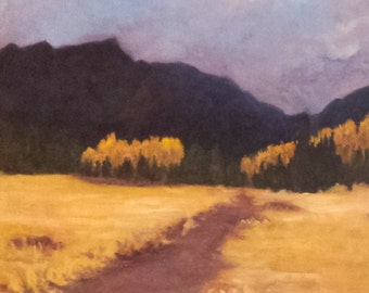 Golden Meadow landscape oil painting