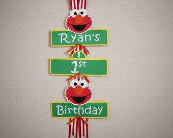 Elmo Door Sign - Elmo Party Sign - Elmo Party