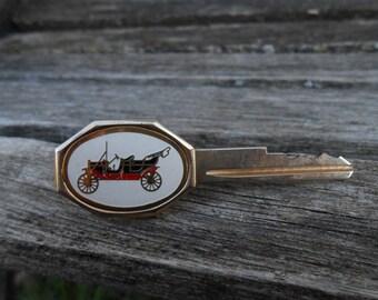 Antique Car Key Tie Clip 1960s