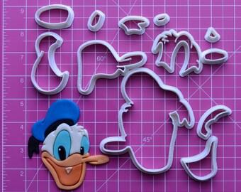 Donald Duck  Fondant Cutter   donald duck applique,donald duck fabric,donald duck hat,donald duck costume
