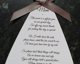 Thank You Mum/Mother Of The Bride Card