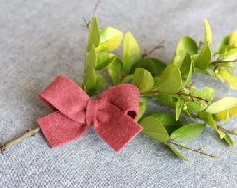 Rose Felt Hair Bow