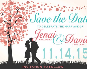 Save The Date - Heart, Trees, Romance