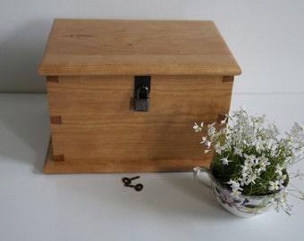 Wooden Keepsake Box, Drawer Box, Gift Box, Wooden Box, Jewelry Box, Lock Box with Lid, Memory Box, Wedding Memory Box, Wood Lock Box