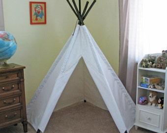 5' Bright White Corner Tepee Tent