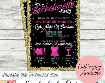 Glamorous Bachelorette Party Invitation