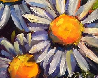 the bright side // original painting // original art // daisy // daisy painting // flower art